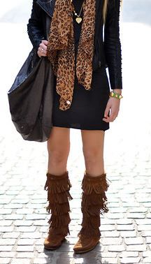 Love those Minnetonka boots from Cavender's.  Perfect style for Fall and Winter.