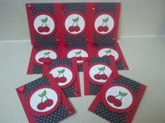 Red ATC Cards by Vannahrose - Cards and Paper Crafts at Splitcoaststampers