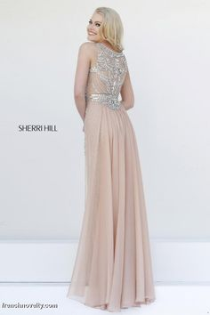 Sherri Hill 11289 Beaded Evening Dress- BACK VIEW