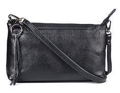 Metallic Pebbled Leather Crossbody Bags Pewter Clutch Purse Handbags Wallet Wristlet for Teens Dexmay Black *** Check out this great product.Note:It is affiliate link to Amazon.