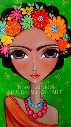 Risultati immagini per romina lerda corazon mandala Karla Gerard, Frida Art, Abstract Faces, Arte Pop, Mexican Folk Art, Art Journal Pages, Pebble Art, Face Art, Mixed Media Art