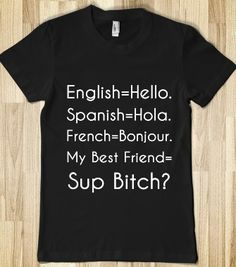 Funny Memes Sarcastic Truths Gift Ideas 17 Ideas For 2019 Cute Tshirts, Cool Shirts, Tee Shirts, Awesome Shirts, Funny Outfits, Cool Outfits, Ways To Say Hello, Best Friend Shirts, Best Friend Sweatshirts