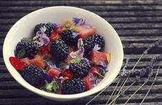 Watermelon and blackberry salad by VinaApsara on DeviantArt Blackberry Salad, Creative Colour, Acai Bowl, Watermelon, Deviantart, Fruit, Breakfast, Photography, Food