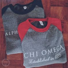 Chi Omega | Alpha Delta Pi | Sorority Sweatshirts | Contrast Heather Gray | South by Sea | Greek Tee Shirts | Greek Tank Tops | Custom Apparel Design | Custom Greek Apparel | Sorority Tee Shirts | Sorority Tanks | Sorority Shirt Designs