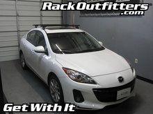 Mazda Mazda3 Sedan Thule Rapid Podium BLACK AeroBlade Roof Rack '04-'12*