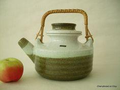 Vintage Swedish ceramic Teapot, Nittsjö Keramik , design by Thomas Hellström 1970's. by Cherryforest on Etsy