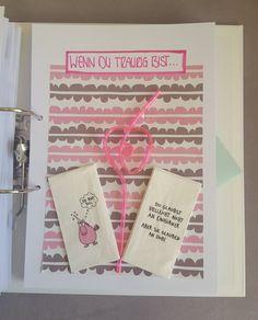 DAS WENN BUCH: Wenn du traurig bist... Birthday Gifts, Happy Birthday, Bff, Diy Scrapbook, Diy And Crafts, Wraps, Presents, Gift Wrapping, How To Make