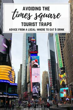 Avoiding the Times Square Tourist Traps//Advice from a local of where to eat & drink {www.caitlinmichelle.com} Times Square Restaurants | Times Square Eats | Times Square Local Advice |Times Square Food | Times Square What To See