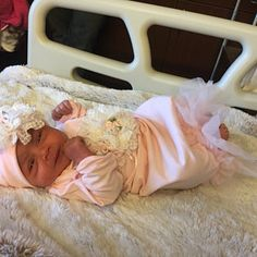 Newborn Girl Coming Home Outfit Newborn Girl Gown Pink Gifts For Newborn Girl, Newborn Girl Outfits, Baby Girl Newborn, Girls Coming Home Outfit, Take Home Outfit, Baby Girl Crib Bedding, Realistic Baby Dolls, Gowns For Girls, Cute Little Baby