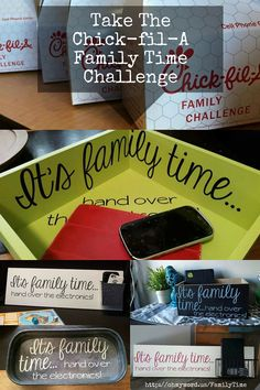 "Take the Chick-fil-A Family Time Challenge by making your own ""Family Time"" electronics box. #FamilyTimeChallenge #OhMyWord  http://www.ohmyword.us/FamilyTime"