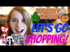 Let's Go Shopping Vlog - Craft Hunting HOBBY LOBBY BEANIE BOOS HALLOWEEN CHRISTMAS DECORATIONS - YouTube