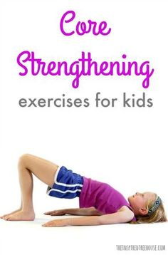 The Easiest Core Strengthening Exercises for Kids The Inspired Treehouse - Core strengthening is essential for the progression of nearly all other developmental skills. Learn some fun ways to help strengthen kids' core muscles! Abs Workout Video, Ab Workout At Home, Ab Workouts, Kids Workout, Pediatric Physical Therapy, Physical Education, Health Education, Occupational Therapy, Science Education