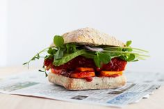 Vegan BBQ tempeh sandwich » The First Mess // Plant-Based Recipes + Photography by Laura Wright