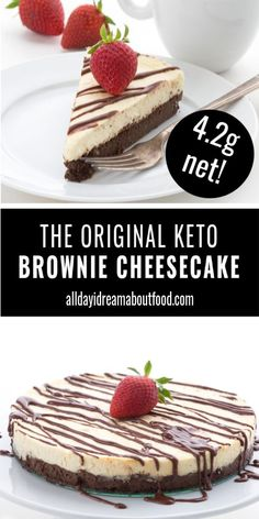 Keto Brownie Cheesecake is the best of all possible worlds, combining fudgy low carb brownies and sugar-free cheesecake into one delicious dessert. This keto cheesecake recipe is practically famous! recipes for two recipes fry recipes Sugar Free Cheesecake, Low Carb Cheesecake Recipe, Sugar Free Desserts, Sugar Free Recipes, Köstliche Desserts, Low Carb Desserts, Healthy Dessert Recipes, Low Carb Recipes, Delicious Desserts