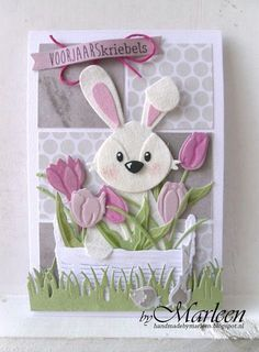Easter Projects, Easter Crafts, Marianne Design Cards, Rena, Halloween Cards, Card Tags, Creative Cards, Flower Cards, Kids Cards