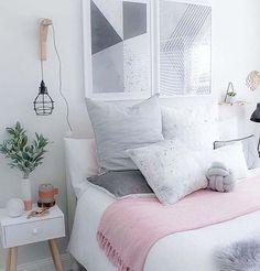 Calming White Bedroom Inspiration