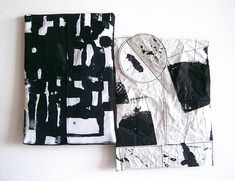 Duality Abstract Drawings, Textile Art, Miniatures, Textiles, Paper, Artist, Inspiration, Design, White People