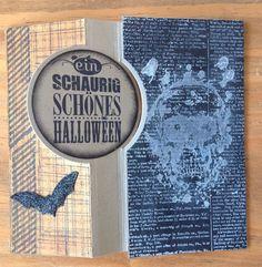 Halloweenkarten mit Stampin`up, La Blanche, Pop-up Karte Rückseite