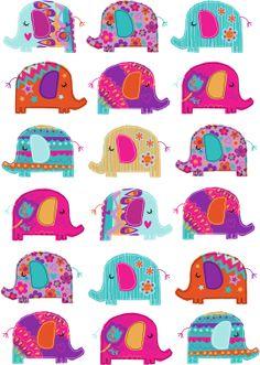 Genine Delahaye: Finding my design style. I have really struggled. Elephant Pattern, Elephant Love, Elephant Art, Elephant Nursery, Elephant Illustration, Pattern Illustration, Fabric Patterns, Print Patterns, Elefante Hindu