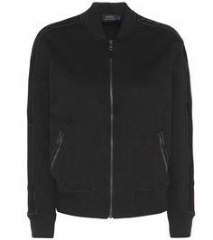 ¡Cómpralo ya!. Cotton-blend bomber jacket. Black cotton-blend bomber jacket by Polo Ralph Lauren , chaquetabomber, bómber, bombers, bomberjacke, chamarrabomber, vestebomber, giubbottobombber, bomber. Chaqueta bomber  de mujer color negro de Polo ralph lauren.