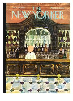 Old covers of The New Yorker magazine.. I need more walls.