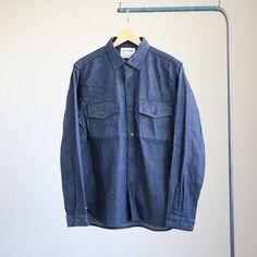YAECA - Baker Shirt #indigo