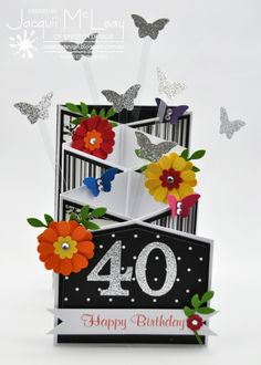 Cascade Birthday Card