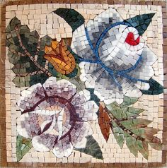 Piedra de los mosaicos floral