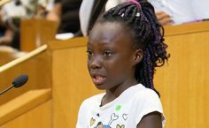 Menina de 9 anos faz discurso emocionante sobre violência racial