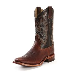 Double H Brown Square Toe Cowboy Boots |