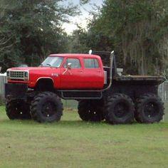Giant flatbed truck