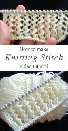 Beginner Knitting Patterns, Knitting Help, Lace Knitting Patterns, Knitting Stiches, Knitting Videos, Knit Stitches For Beginners, Knitting Tutorials, Knitting Accessories, Creations