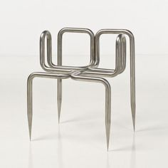 Didier Faustino Love me tender Brushed steel armchair Superette Edition 2000 chairs decoration stühle is part of Contemporary furniture design - Funky Furniture, Design Furniture, Chair Design, Contemporary Furniture, Ikea Furniture, Furniture Outlet, Contemporary Design, Cafe Chairs, Dining Chairs
