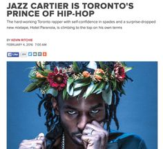 Jazz Cartier Toronto rapper...raps.
