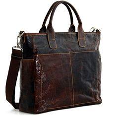Jack Georges [Personalized Initials Embossing] Voyager Large Satchel Shoulder Bag, Leather Handbag in Brown Leather Handbags, Leather Totes, Large Handbags, Messenger Bag, Shoulder Bag, Best Deals, Brown, Handle, Dress Designs