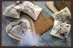 cuori di legno e tessuto