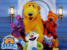 "Childhood Nick Jr. cartoon, ""Bear in the Big Blue House""."