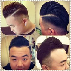 Hairstyle#Scumbag#pompadour# Styling product#Reuzel Pomade BY #MONGOLOID HAIR ART#oug#malaysia