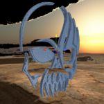 Caveira 3D-Obj