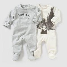 Pijama em moletão (lote de 2) 0 meses-3 anos R baby