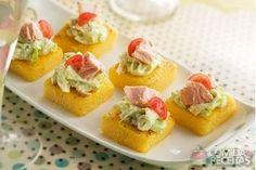 Receita de Canapé de polenta em receitas de salgados, veja essa e outras receitas aqui!