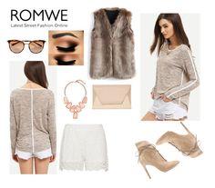 """nice romwe grey t-shirt"" by kaja-232 ❤ liked on Polyvore featuring Zizzi, Gianvito Rossi, Chicwish, Coast and Kendra Scott"