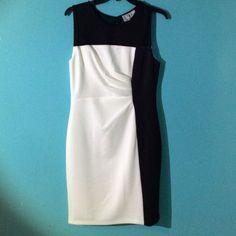 Nwt Black And Off White Sheath Dress