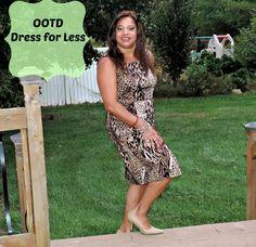 OOTD Dress for Less #fashionafterfifty #dedivahdeals #animalprint #leopard
