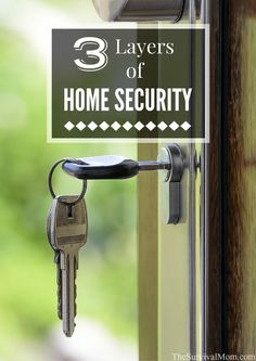 Three Layers of Home Security - Survival Mom - I thought good locks and maybe a security system was all I needed for my home. Home Security Tips, Wireless Home Security Systems, Security Camera System, Safety And Security, Security Cameras For Home, House Security, Personal Security, Security Locks For Doors, Adt Security