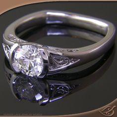 Classic Half Bezel Mounting  #jewelryworks  #engagement