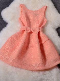 Lace Lantern skirt bow dress