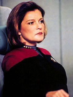 Captain Kathryn Janeway of Star Trek Voyager. Sometimes beauty means determined leadership.