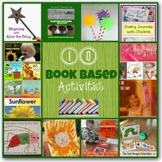 Lots of ways to bring books alive with these great kids activities.