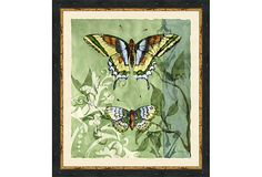 A Little Rustic Romance      Hand-Embellished Butterfly Botanical II          Vintage Print Gallery                    $189.00
